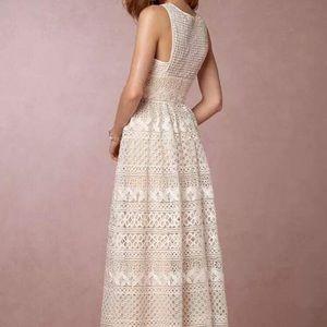 Bhldn Dresses   BHLDN Boho Couture Wedding Dress Sz 0 Cream/ivory